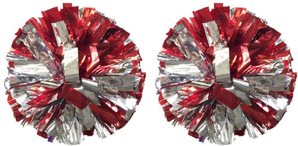 Red and Silver Poms