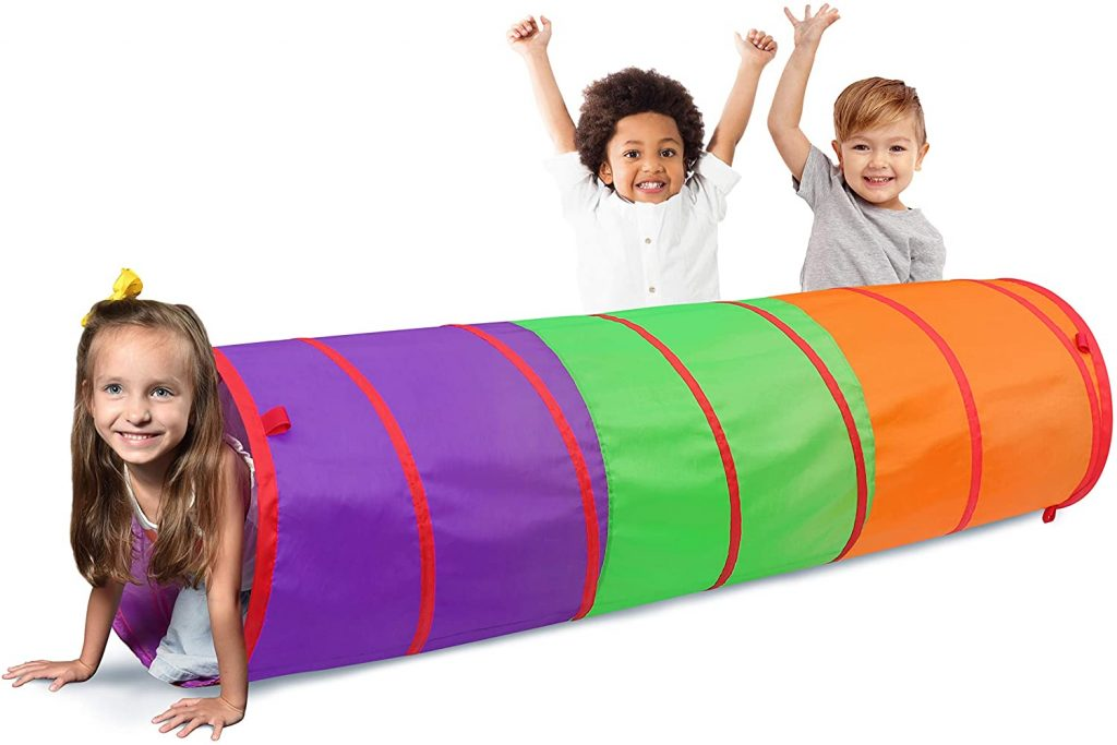 Picture of kids in a pop out tunnel
