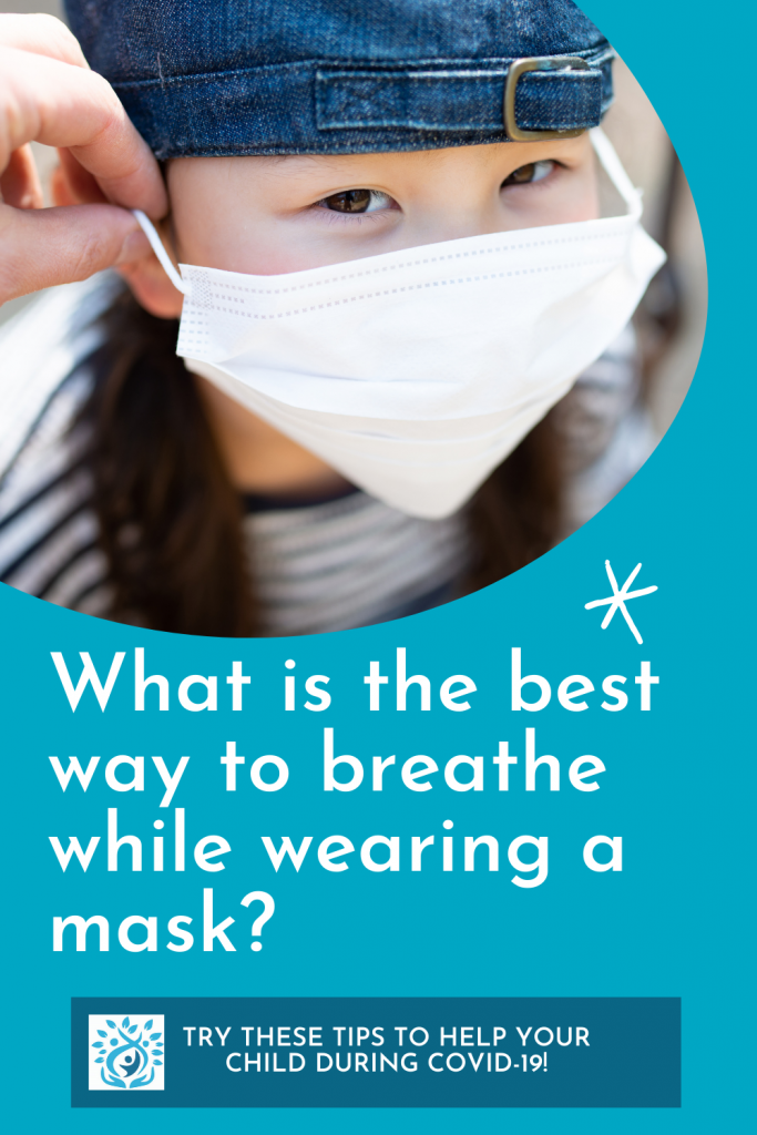 Graphic showing girl wearing mask