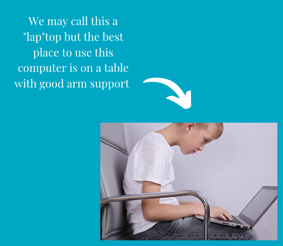 """""""We may call this a laptop but the best place to use this computer is on a table with good arm support"""""""